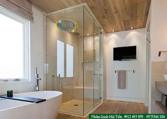 Mẫu phòng tắm kính vuông góc đẹp