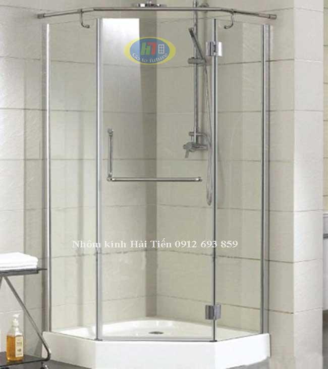 Mẫu vách kính phòng tắm lục giác đẹp