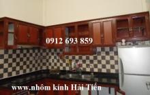 Tủ bếp nhôm vân gỗ, chuyên thi công tủ bếp nhôm vân gỗ tại Hà Nội