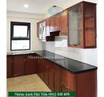 Tủ bếp nhôm vân gỗ Hà Nội giá rẻ, 50 mẫu tủ bếp nhôm vân gỗ Hà Nội đẹp
